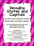 Secret Decoder - States and Capitals