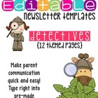 Newsletter Templates (12 included): Secret Detective Theme