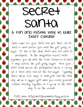Secret Santa {A Fun & Festive Staff Activity}