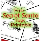 Secret Santa Tags Printable-FREE!