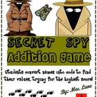 Secret Spy Addition Game! (Great Center or Workstation!)