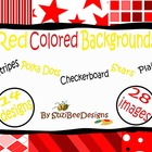 Clipart Backgrounds - Schoolhouse Red