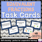 Self-Checking Common Core Task Cards - 4.NF.A.1 - Equivale