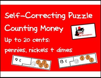 Self Correcting Puzzle - Counting Pennies, Nickels & Dimes