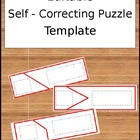 Self Correcting Puzzle Template