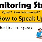 Self Monitoring Strategies for Class Discussion