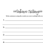 Sentence Challenge (Extension for Literacy Centers)