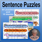 Sentence Puzzles – grades 1-2 – Practice Sight Words and B