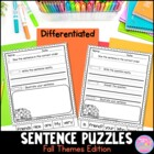 Sentence Puzzles...Fall Themed