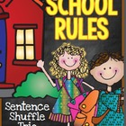 Sentence Shuffle Trio -  Back to School - School Rules - 2nd