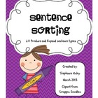 Sentence Sorting - Spring Themed