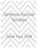 Sentence Structure Test Bank