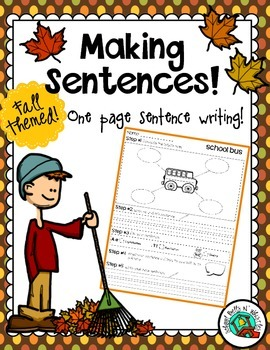 Sentence Writing /Fall Theme