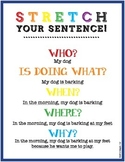 Sentence Writing - adding details, including who, what, wh
