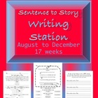 Sentence to Story Writing station/center or activity booklet
