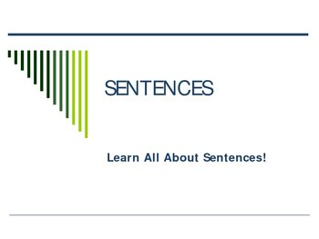 Sentences Power Point