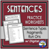 Sentences Practice Worksheet