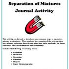 Separation of Mixtures Journal or Interactive Notebook Activity