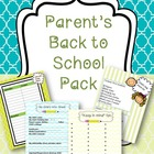 Parents' back to school pack