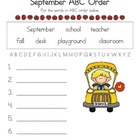 September ABC Order Freebie