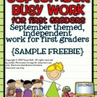 September Busy Work {FREEBIE}