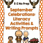 September Celebrations Literacy Activities and Writing Prompts