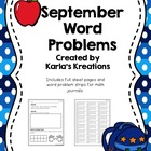 September Daily Word Problems