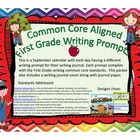September First Grade Writing Prompts and Journal Pages (C