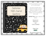 September Math Journal Prompts