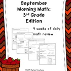 September Morning Math: 3rd Grade Edition
