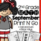 September Print N' Go Odd and Even Numbers/ Place Value