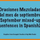 September Scrambled Sentences in Spanish