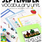 September Vocabulary Unit- Boardmaker Curriculum for Speci
