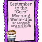 "September to the ""Core' Morning Warm-ups - Language Arts a"