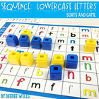 Sequence Game Sets and Sorts for lowercase letters