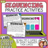 Sequence Task Cards: 32 Reading Strategy Paragraph Cards