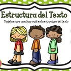 Text StructureTask Cards in Spanish