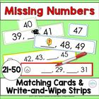 Sequence of Numbers: Matching Cards 21-50