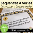 Sequences and Series Review, Quiz, Practice, Test Bundle