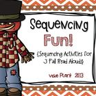 Sequencing Fun! {Sequencing Activities for 3 Fall Read Alouds}