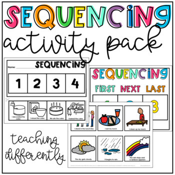 Sequencing Picture Cards (Includes Cards & Mats for Cut & Paste!)