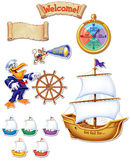 Set Sail For... Nautical Themed Classroom Bulletin Board Set