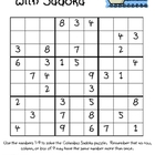 """Set Sail with Sudoku"" (Columbus Day Problem Solving)"