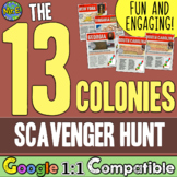Settling the 13 Colonies - A Scavenger Hunt!  Students inv