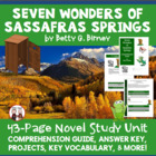 Seven Wonders of Sassafras Springs Reading Comprehension Guide