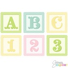 Shabby French Baby Blocks Alphabet Clip Art