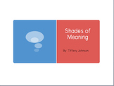 Shades of Meaning Power Point and Flow chart