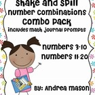 Shake & Spill Number Combinations Combo Pack (Numbers 3-20)