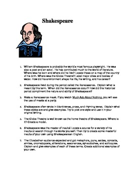 Shakespeare - Individualized Unit