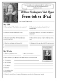 Shakespeare Web Quest & Introduction Worksheet